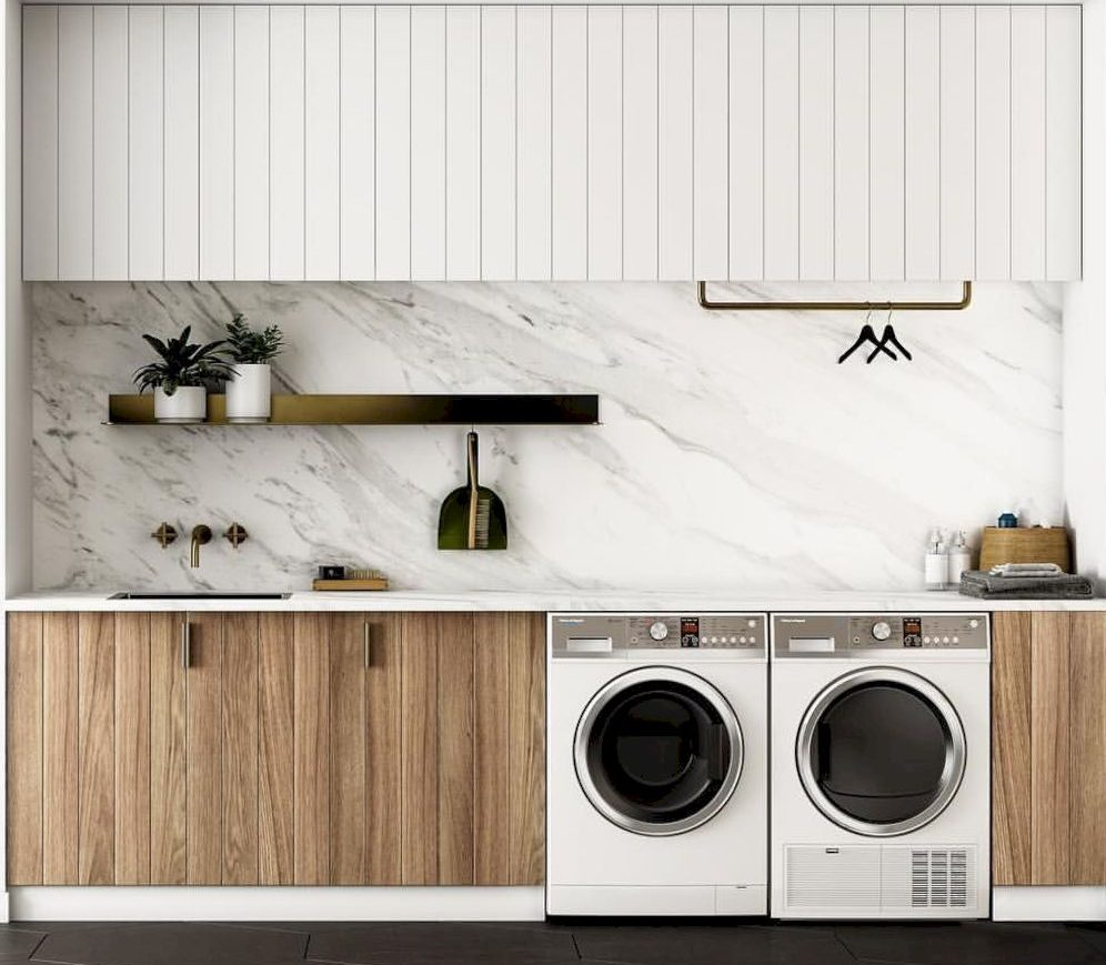 Classy Laundry Room Update Showing Off Minimalist & Modern Interior Designs